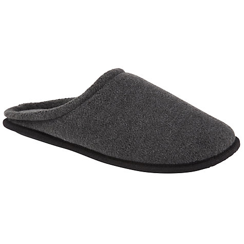 Buy John Lewis Fleece Mule Slippers, Grey Online at johnlewis.com