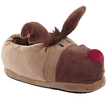 Buy John Lewis Reindeer Slippers Online at johnlewis.com