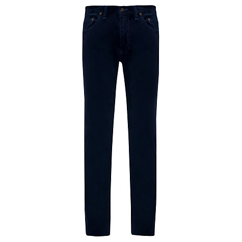 Buy Polo Ralph Lauren 5 Pocket Slim Fit Cord Trousers, Navy Online at johnlewis.com