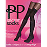 Buy Pretty Polly Over the Knee Modal Sock Tights, Black Online at johnlewis.com