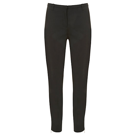 Buy Mint Velvet Cropped Trousers, Black Online at johnlewis.com