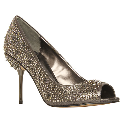 Buy Carvela Genny Studded Fabric Court Shoes Online at johnlewis.com