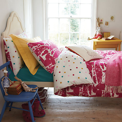 Buy Joules Bunny Cushion, Pink Online at johnlewis.com