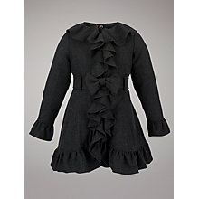 Buy Yumi Girls Bow Coat, Grey Online at johnlewis.com