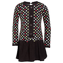 Buy Yumi Girls Spotted Dress, Black Online at johnlewis.com