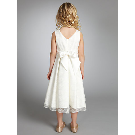 Buy John Lewis Girl Empire Line Lace Dress, Ivory Online at johnlewis.com