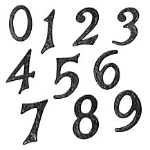 John Lewis Wrought Iron Door Numerals