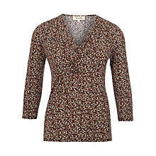 Buy Viyella Dotty Print 3/4 Sleeve Jersey Top, Multi Online at johnlewis.com