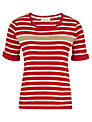 Viyella Stripe Jersey Top, Red