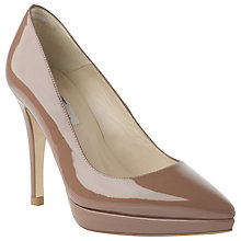 Buy L.K. Bennett Lauren Patent Leather Pointed Platform Court Shoes Online at johnlewis.com