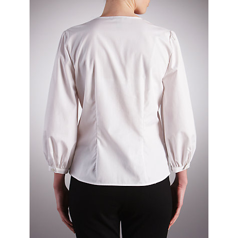 Buy Lauren by Ralph Lauren Ruffle Blouse, White Online at johnlewis.com