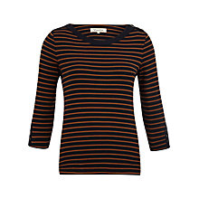 Buy Viyella Breton Stripe Top, Navy Online at johnlewis.com