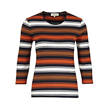 Buy Viyella Petite Posh Stripe Top, Navy Online at johnlewis.com