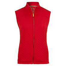 Buy Viyella Quilted Gilet, Red Online at johnlewis.com
