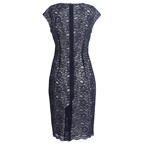 Buy Jaeger Lace Overlay Shift Dress, Navy Online at johnlewis.com