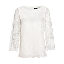 Buy Jaeger 3/4 Sleeve Lace Blouse Online at johnlewis.com