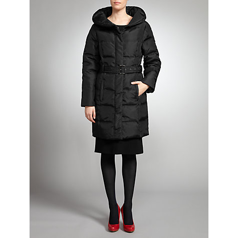 Buy Four Seasons Quilted Coat, Black Online at johnlewis.com