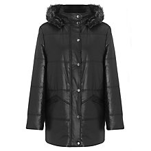 Buy Four Seasons Quilted Fur Trim Hood Jacket Online at johnlewis.com
