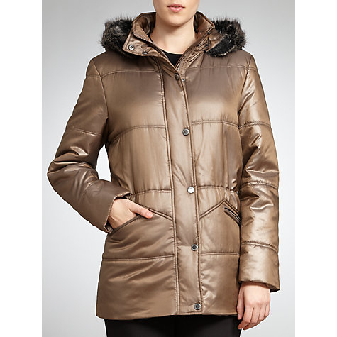 Buy Four Seasons Quilted Faux Fur Trim Hood Jacket Online at johnlewis.com