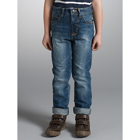 Buy John Lewis Boy Turn-Up Jeans, Blue Online at johnlewis.com