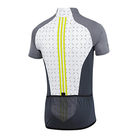 Buy Adidas CLIMACOOL® Cycling T-Shirt, White/Grey Online at johnlewis.com