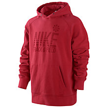 Buy Nike Track & Field Hoodie, Gym Red Online at johnlewis.com