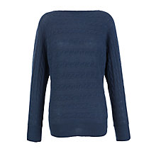 Buy Lauren by Ralph Lauren Dolman Boatneck Jumper, Antique Indigo Online at johnlewis.com