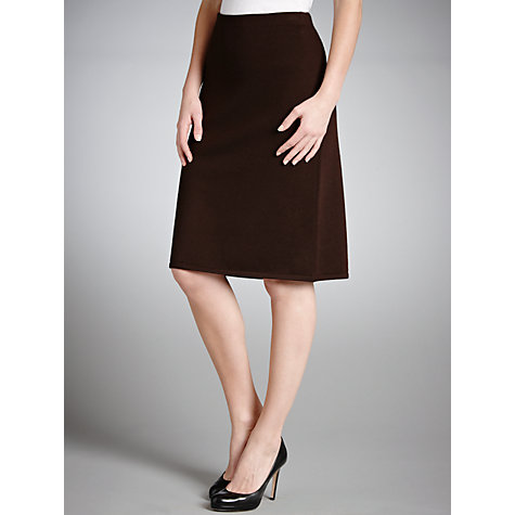 Buy Lauren by Ralph Lauren Wool Stretch Skirt, Brown Online at johnlewis.com