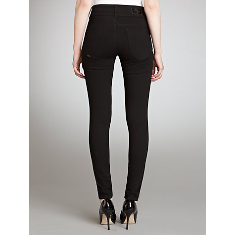 "Buy Salsa Secret High Rise Slim Leg Jeans, Black, L32"" Online at johnlewis.com"