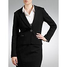 COLLECTION by John Lewis Ponte Suit, Black