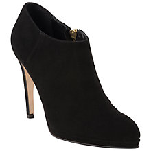 Buy L.K. Bennett Dori Suede Stiletto Ankle Boots, Black Online at johnlewis.com