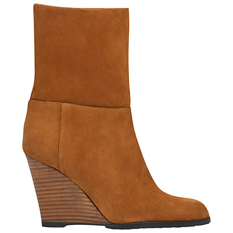 Buy L.K. Bennett Zia Suede Stacked Wedge Heel Calf Boots Online at johnlewis.com