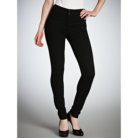 "Buy Salsa Secret Push-In Skinny Jeans, L30"", Black Online at johnlewis.com"