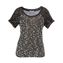 Buy By Zoé Dada Tweed Knitted Top, Charcoal Online at johnlewis.com