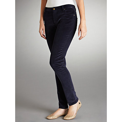 Buy By Zoé Riri Skinny Corduroy Trousers, Blue Online at johnlewis.com