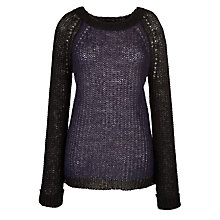 Buy By Zoé Tamy Jumper, Black/Marine Online at johnlewis.com