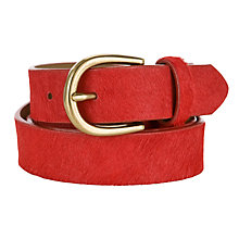 Buy Collection WEEKEND by John Lewis Hair-On Belt, Red Online at johnlewis.com