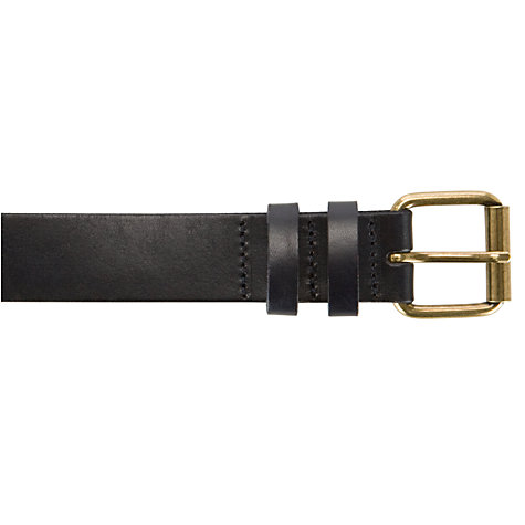 Buy John Lewis Classic Smooth Leather Jeans Belt, Navy Online at johnlewis.com