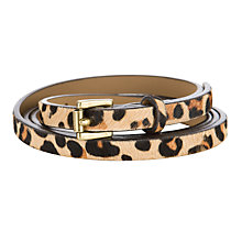 Buy Collection WEEKEND by John Lewis Super Skinny Hair-On Leather Belt Online at johnlewis.com