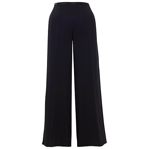 Buy Chesca Satin Back Trousers, Black Online at johnlewis.com