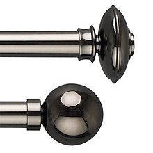 Buy John Lewis Gunmetal Curtain Pole Range, Dia.28mm Online at johnlewis.com