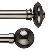 John Lewis Gunmetal Curtain Pole Range, Dia.28mm