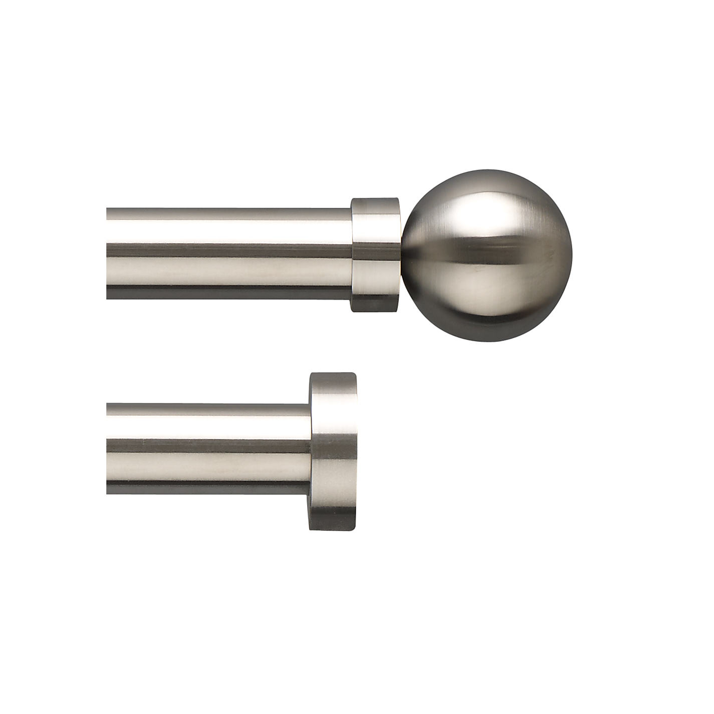 Stainless Steel Curtain Pole Uk - Window Curtains & Drapes