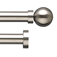 Buy John Lewis Stainless Steel Curtain Pole Range, Dia.25mm Online at johnlewis.com