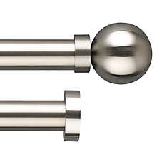 Buy John Lewis Stainless Steel Curtain Pole Range, Dia.30mm Online at johnlewis.com