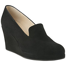 Buy L.K. Bennett Beryl Suede Wedge Heel Slipper Court Shoes, Black Online at johnlewis.com