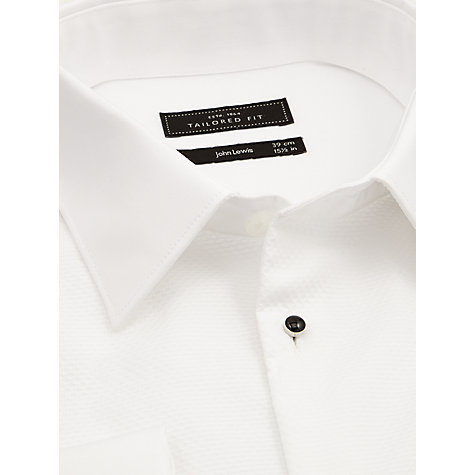 Buy John Lewis Tailored Fit Dress Shirt Set, White/Black Online at johnlewis.com