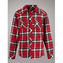 Buy Animal Lateral Checked Shirt, Red Online at johnlewis.com