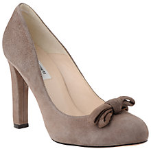 Buy L.K. Bennett Luna Suede Bow Trim Court Shoes Online at johnlewis.com