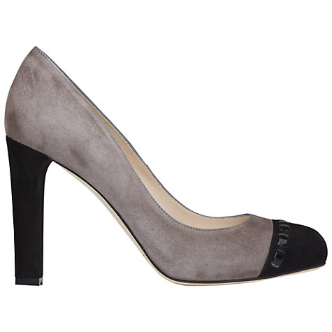 Buy L.K. Bennett Mara Suede Stitched Toecap Court Shoes Online at johnlewis.com